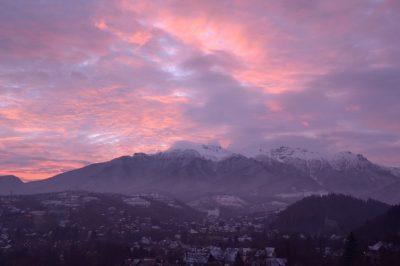 Dimineata de iarna in Bran